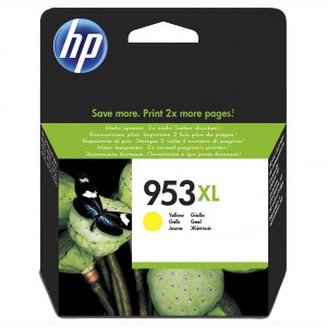 HP original ink F6U18AE, HP 953XL, yellow, blister, 1600str., 20ml, high capacity, HP