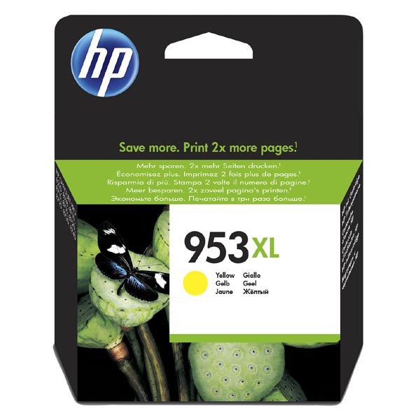 HP original ink F6U18AE, HP 953XL, yellow, 1600str., 20ml, high capacity, HP OfficeJet Pro 8218,8710,8720,8730,8740