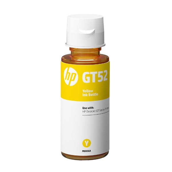 HP original ink bottle M0H56AE, HP GT52, yellow, 8000str., 70ml, HP DeskJet GT serie, Cronos