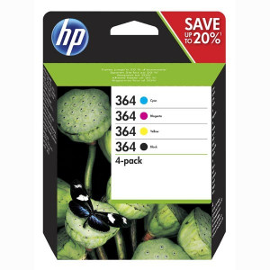 HP original ink N9J73AE, HP 364 Combo pack, CMYK, blister, HP Combo-pack,B8550,C5380,D5460