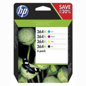 HP original ink N9J74AE, HP 364XL Combo pack, CMYK, blister, HP Photosmart C5393, Plus B209, Premium C309, Premium