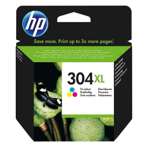 HP originál ink N9K07AE, HP 304XL, Tri-color, 300str., 7ml, HP DeskJet 2620,2630,2632,2633,3720,3730,3732,3735