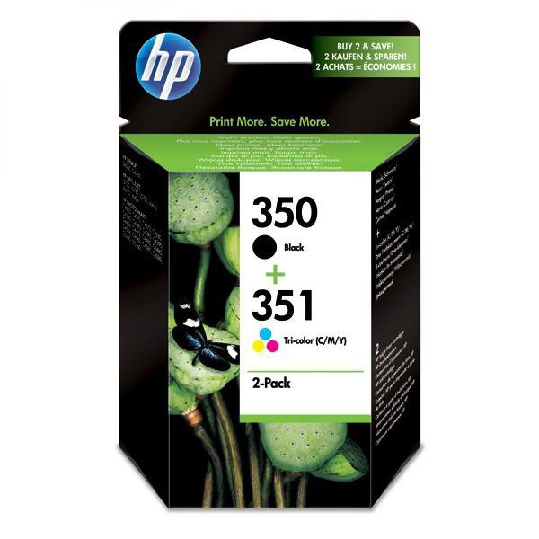 HP original ink SD412EE, HP 350 + HP 351, black/color, 200/170str., 2ks, HP 2-Pack, CB335EE + CB337EE