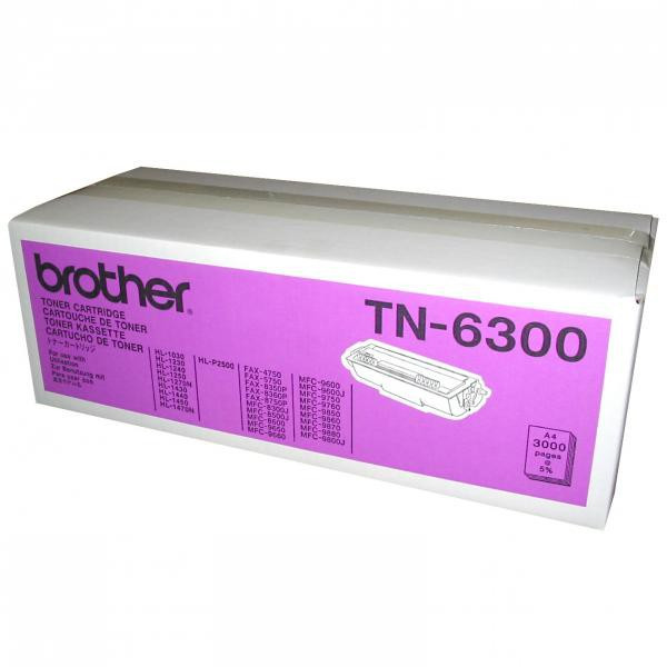 Brother originál toner TN6300, black, 3000str., Brother HL-1240, 1250, 1270N, 1440, MFC-9650, 9850