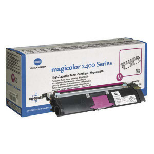 Konica Minolta original toner A00W232, magenta, 4500str., 1710-5890-06, s hologramom, Konica Minolta Magic Color 2400, 2430, 2450,