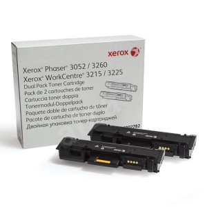 Xerox originál toner 106R02782, black, 2x3000str., Xerox Phaser 3052,3260, WorkCentre 3215,3225, Dual pack