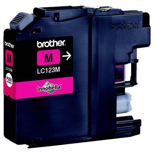 Brother originál ink LC-123M, magenta, 600str., Brother MFC-J4510 DW