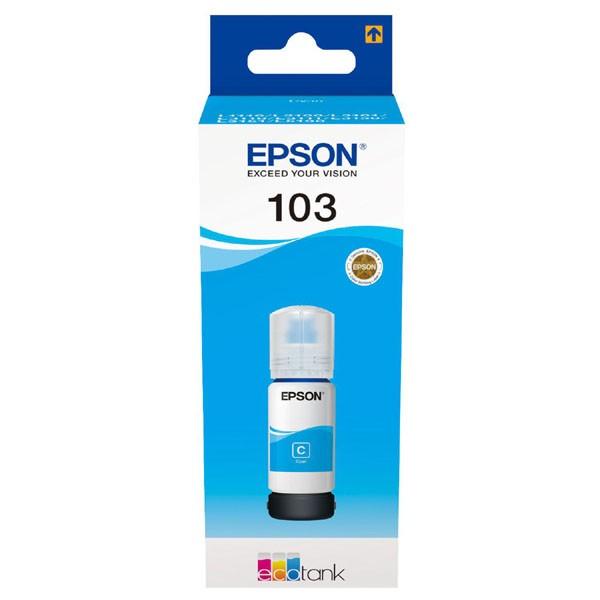 Epson originál ink C13T00S24A, 103, cyan, 65ml, Epson